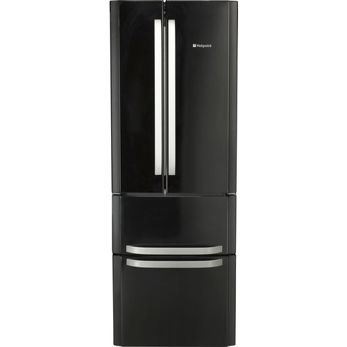 Save £50.00 - HOTPOINT FFU4D.1 K Fridge Freezer - Black, Black