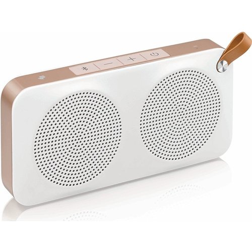 JVC SP-AD60-M Portable Wireless Speaker - White & Gold, White