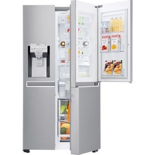Save £300.00 - GSJ961NSVV American-Style Smart Fridge Freezer - Steel