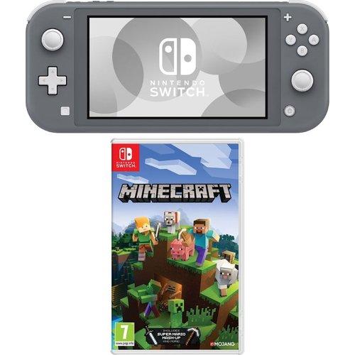 Save £19.99 - NINTENDO Switch Lite & Minecraft Bundle - Grey, Grey