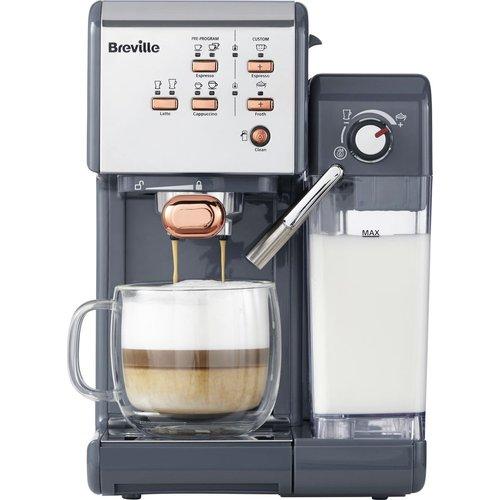 HALF PRICE! BREVILLE One-Touch VCF109 Coffee Machine - Graphite Grey & Rose Gold, Graphite