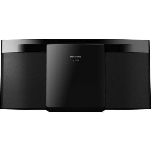 Save £10.99 - PANASONIC SC-HC200EB-K Bluetooth Flat Panel Hi-Fi System - Black, Black