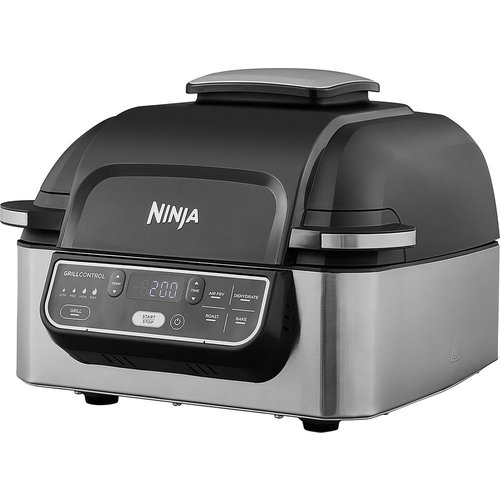 Ninja Ninja Air Grill [AG301UK] Air Grill and Air Fryer, 5.7 Litres, Brushed Steel and Black