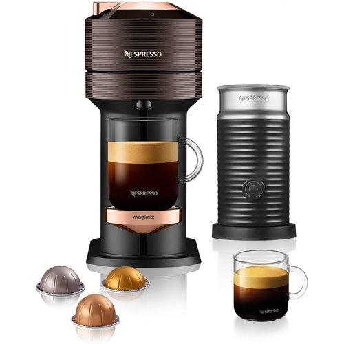 NESPRESSO by Magimix Vertuo Next & Milk Coffee Machine - Brown, Brown