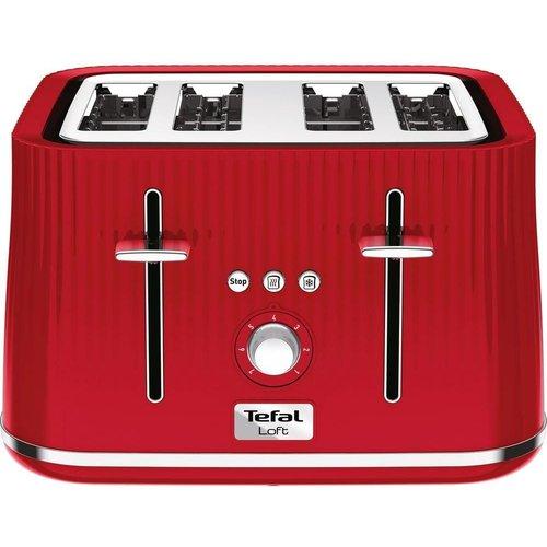 TEFAL Loft TT60540 4-Slice Toaster - Cherry Red, Red