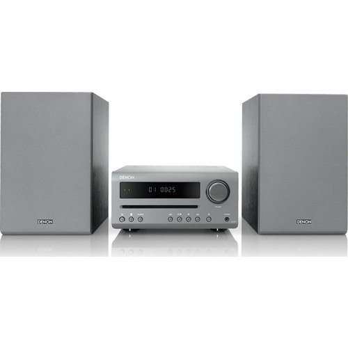 DENON DT-1 Bluetooth Traditional Hi-Fi System - Grey, Grey