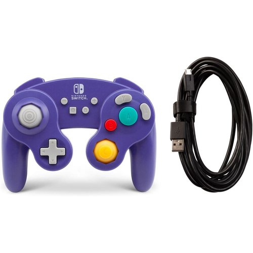 POWERA Nintendo Switch GameCube Controller - Purple, Purple