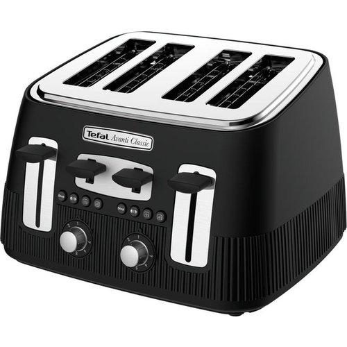 Save 44% - TEFAL Avanti Classic TT780N40 4-Slice Toaster - Matte Black, Black