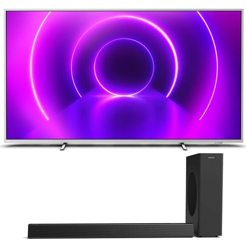 "58"" PHILIPS  Smart 4K HDR LED TV & Wireless Sound Bar Bundle"