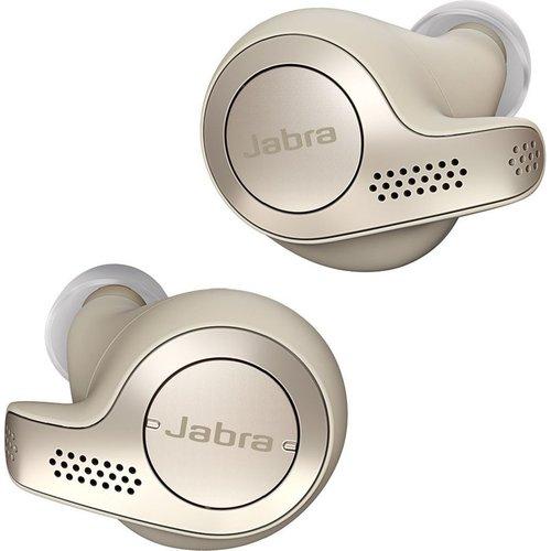 Jabra Jabra Elite 65t True Wireless Bluetooth Earbuds and Charging Case with Alexa Built-In, Gold Beige