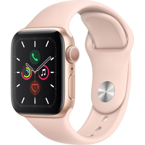 Save £50.00 - APPLE Watch Series 5 - Gold Aluminium with Pink Sand Sports Band, 44 mm, Gold
