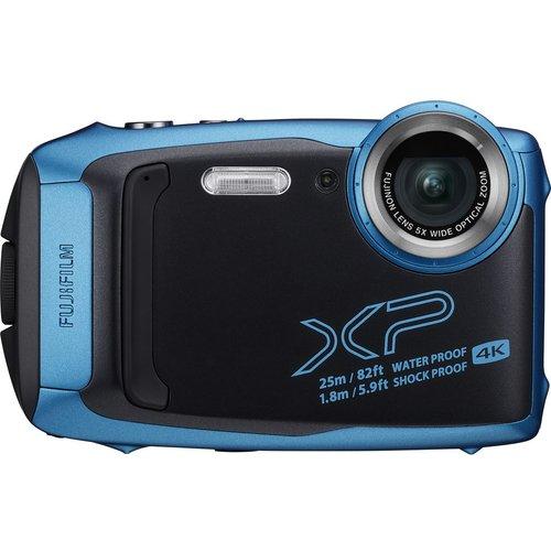 Save £30.00 - FUJIFILM FinePix XP140 Tough Compact Camera - Sky Blue, Blue