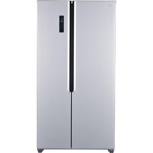 Save £50.00 - LOGIK LSSBSS20 American-Style Fridge Freezer - Inox