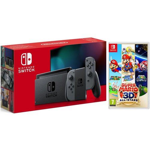 Save £24.99 - NINTENDO Switch & Super Mario 3D All-Stars Bundle - Grey, Grey