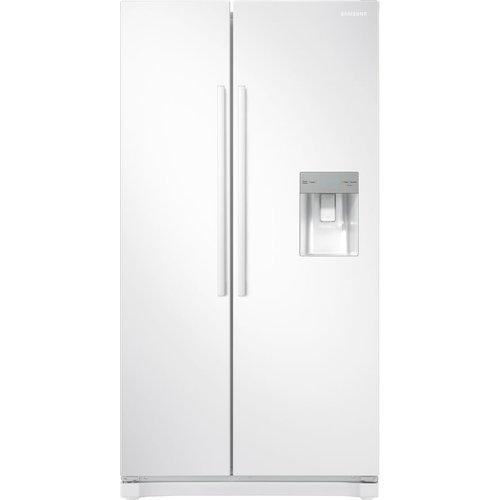 Save £110.00 - SAMSUNG American-Style Fridge Freezer White RS52N3313WW, White