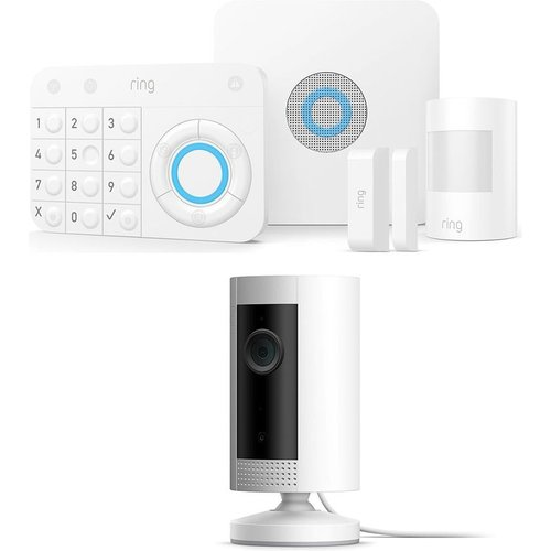 Save 32% - RING Alarm 5 Piece Security Kit & Indoor Cam Bundle - White, White