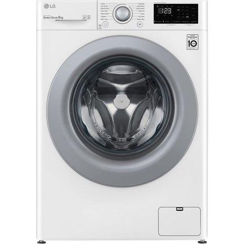 Save £50.00 - LG AI DD V3 F4V309WNE 9 kg 1400 Spin Washing Machine - White, White
