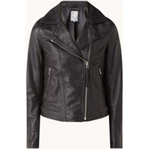 Veste motard Bebe en cuir de mouton avec poches zippées - Goosecraft - Modalova