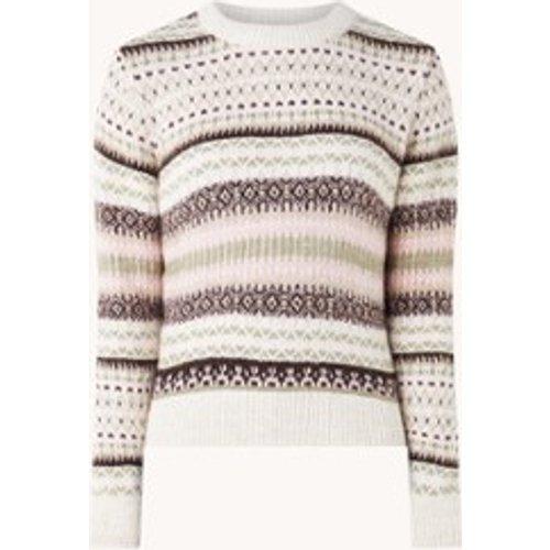 Pull en grosse maille avec motif tricoté - Mango - Modalova