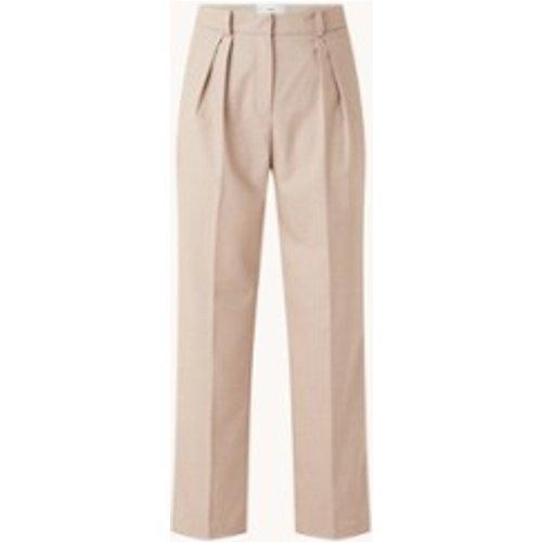 Pantalon taille haute coupe ample avec pli pressé - Mango - Modalova