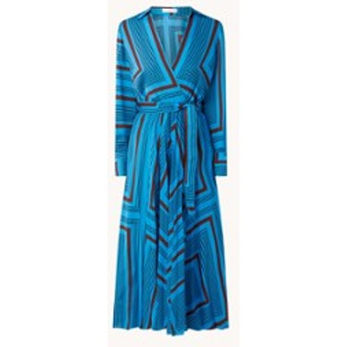 Robe tunique longue Belice en satin à imprimé graphique - Mango - Modalova
