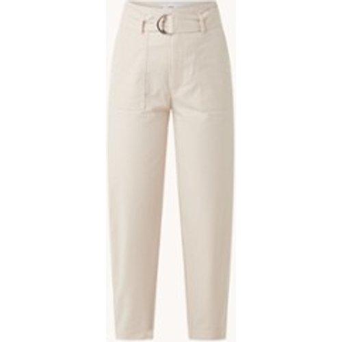 Pantalon court ample taille haute avec ceinture - Mango - Modalova