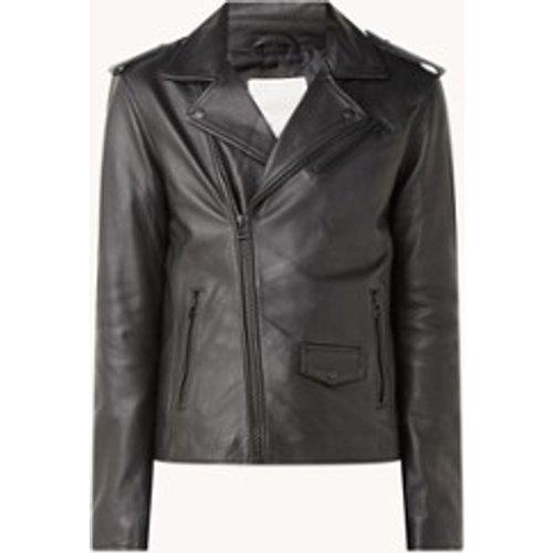 Veste motard en cuir avec poches zippées - Goosecraft - Modalova