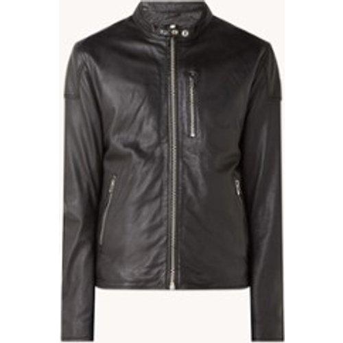 Veste motard Lois en cuir de mouton avec poches zippées - Goosecraft - Modalova