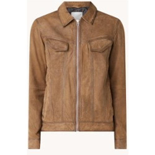 Veste Ray en cuir de mouton avec poches à rabat - Goosecraft - Modalova