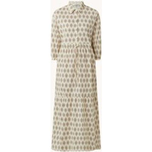 Robe chemise maxi avec cordon de serrage et imprimé - Penn & Ink - Modalova