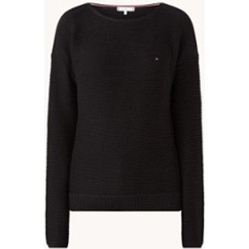 Pullover Hayana à grosses mailles avec logo - Tommy Hilfiger - Modalova
