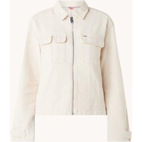 Veste en jean avec poches à rabat et bordure logo - Tommy Hilfiger - Modalova