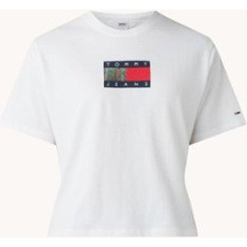 T-shirt en coton biologique avec imprimé logo - Tommy Hilfiger - Modalova