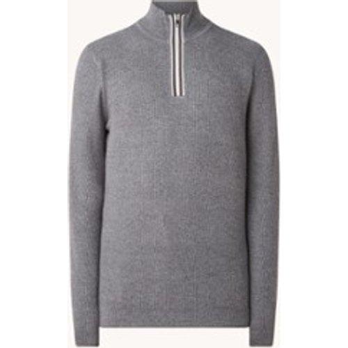Pull en laine mélangée finement tricotée Gardener avec demi-zip - REISS - Modalova