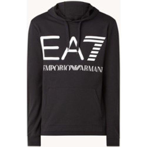 Sweat d'entraînement à capuche avec imprimé logo - Emporio Armani - Modalova