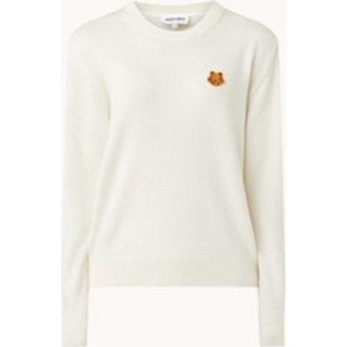 Pull en laine à maille fine avec bordure logo - Kenzo - Modalova