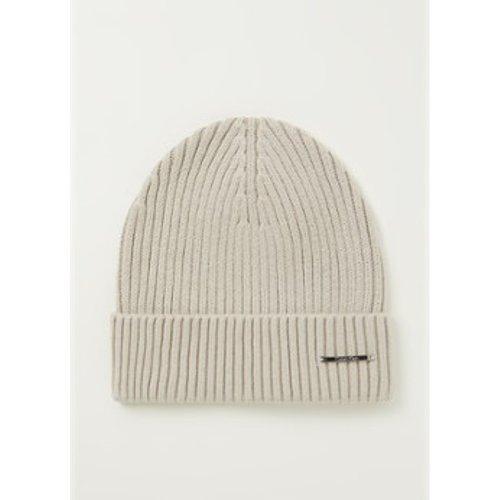 Bonnet en tricot côtelé en cachemire mélangé - Calvin Klein - Modalova