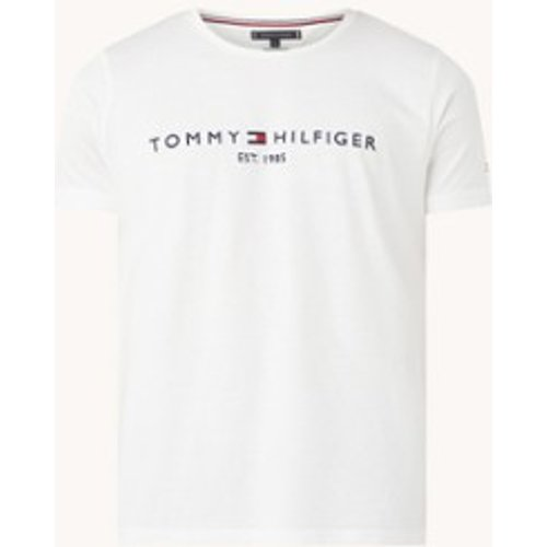 T-shirt en coton biologique avec bordure logo - Tommy Hilfiger - Modalova