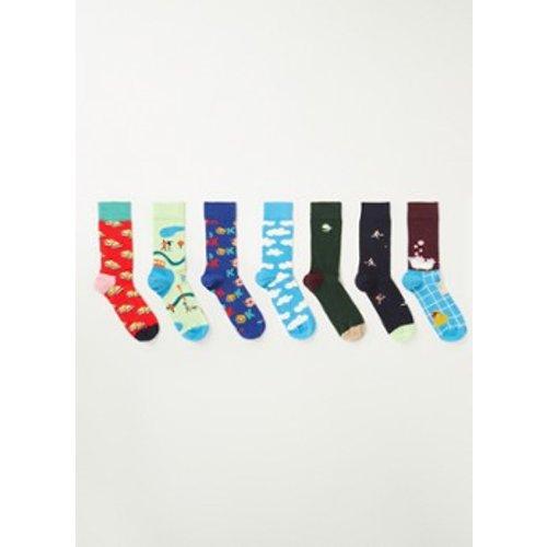 Chaussettes 7 jours avec impression dans un coffret cadeau de 7 - Happy Socks - Modalova