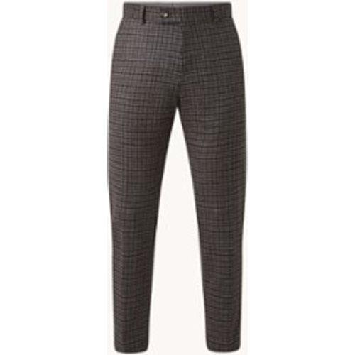Pantalon court Till2coupe slim en laine mélangée à carreaux - Strellson - Modalova