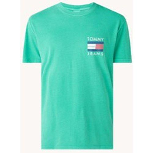 T-shirt en coton biologique avec imprimé sur le devant et au dos - Tommy Hilfiger - Modalova