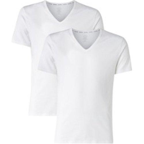 T-shirt coupe moderne avec col en V en lot de 2 - Calvin Klein - Modalova