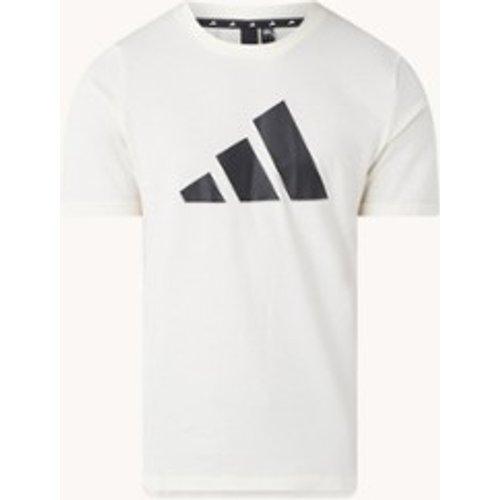 T-shirt Trainings en coton biologique avec imprimé logo - Adidas - Modalova