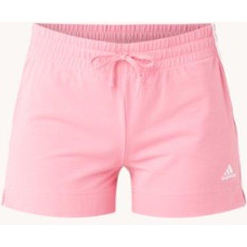 Short d'entraînement coupe droite taille haute avec imprimé logo - Adidas - Modalova