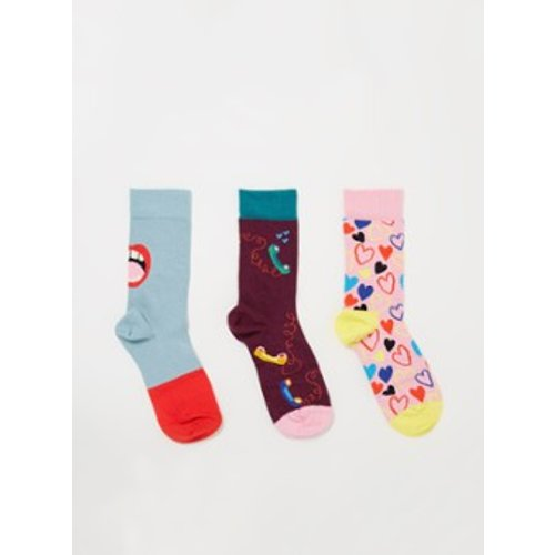 Chaussettes Single Ready To Mingle dans un coffret cadeau de 3 - Happy Socks - Modalova