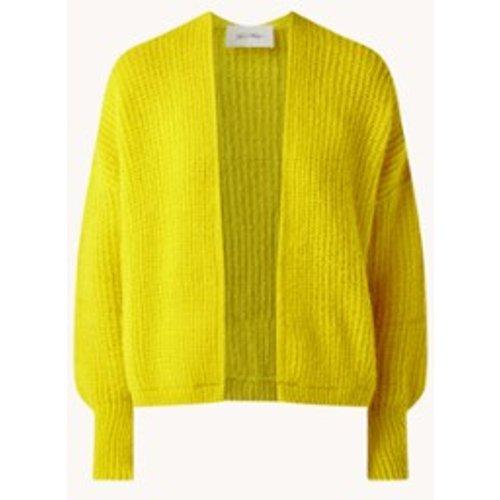Cardigan en grosse maille en mélange de laine d'alpaga - American vintage - Modalova
