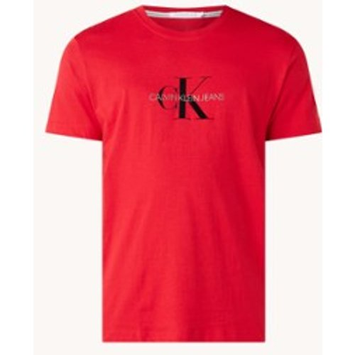 T-shirt avec imprimé logo floqué - Calvin Klein - Modalova