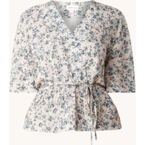 Robe mini avec imprimé floral et ceinture à nouer - ARMEDANGELS - Modalova
