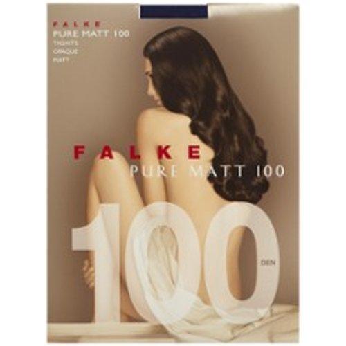 Collant Pure Matt en 100 deniers marine - Falke - Modalova