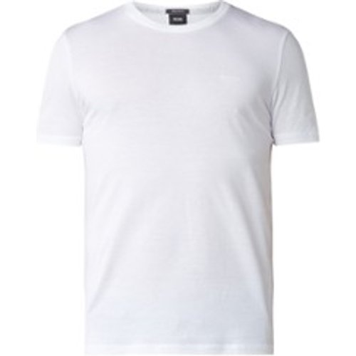 T-shirt Tiburt en coton avec imprimé logo - Hugo Boss - Modalova